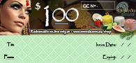 OmVeda Gift Certificate $100