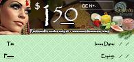 OmVeda Gift Certificate $150