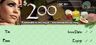OmVeda Gift Certificate $200