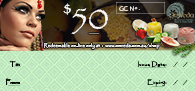 OmVeda Gift Certificate $50